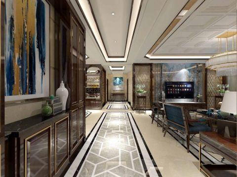 客厅走廊新中式风格装潢设计图片
