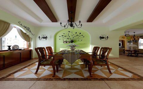 6.8万预算125平米三室两厅装修效果图