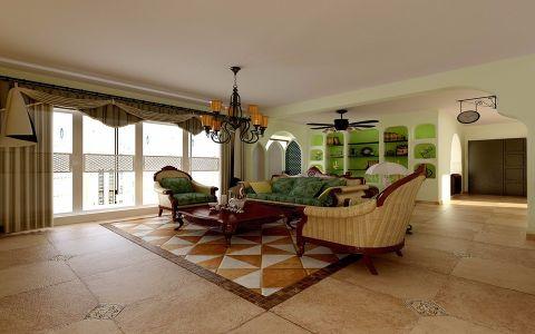 客厅走廊欧式田园风格装饰设计图片