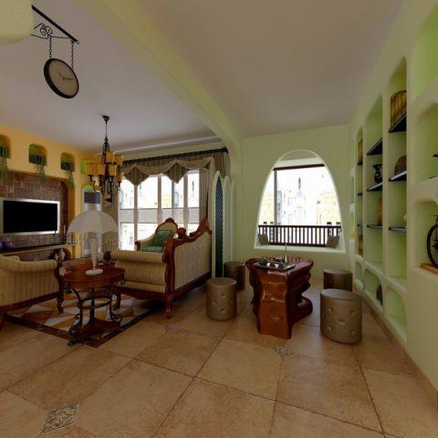 客厅沙发欧式田园风格装修效果图