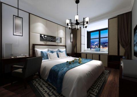卧室吊顶新中式风格装修图片