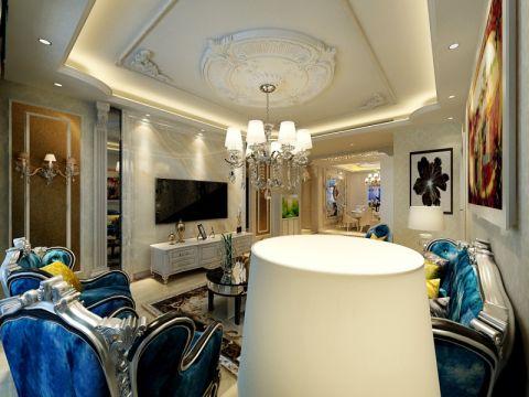 客厅吊顶新古典风格装修设计图片