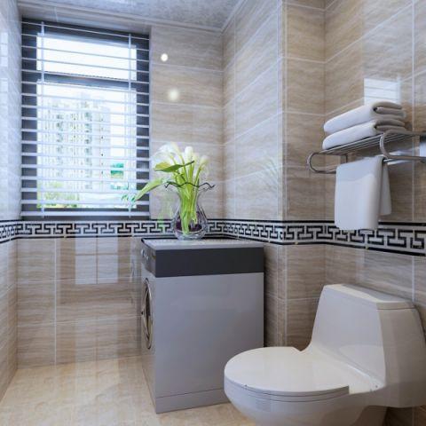 卫生间窗帘新中式风格装潢效果图