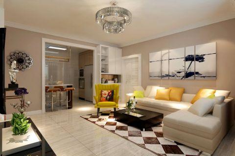 9万预算125平米三室两厅效果图