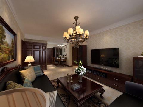 9万预算112平米两室两厅装修效果图