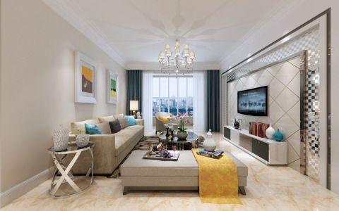 8万预算115平米两室两厅装修效果图