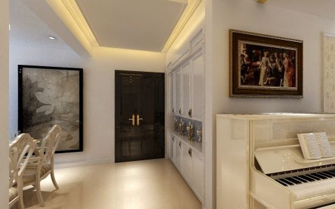 玄关吊顶欧式风格装饰设计图片