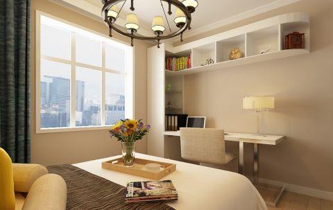 卧室书桌简约风格装潢设计图片