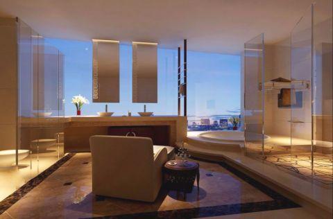 浴室浴缸新中式风格装修设计图片