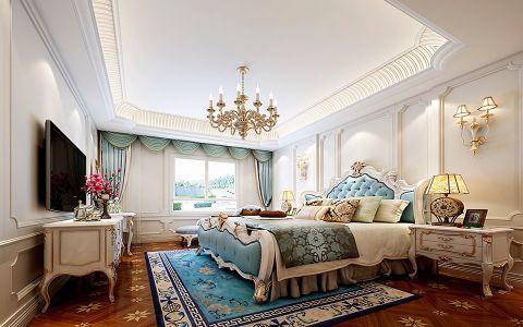 卧室飘窗法式风格装饰设计图片