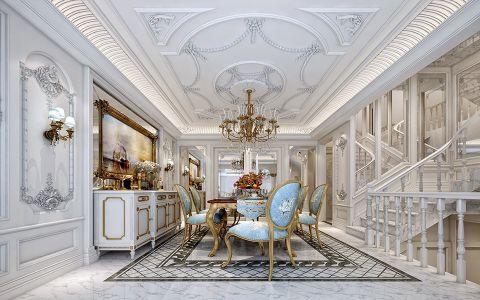 客厅楼梯法式风格装潢设计图片