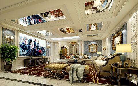 客厅门厅法式风格装饰效果图