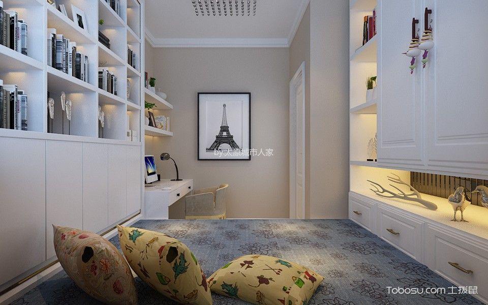 书房 书架_3.5万预算98平米两室两厅装修效果图