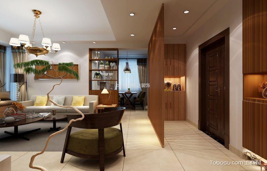 客厅 走廊_7万预算100平米两室两厅装修效果图