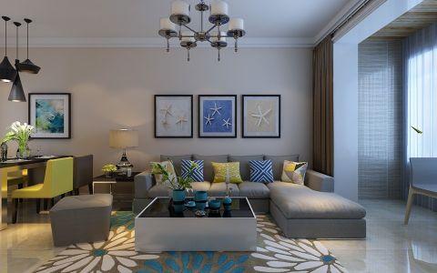 3.5万预算98平米两室两厅装修效果图