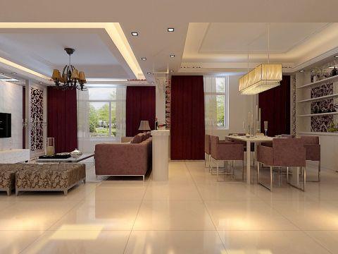 客厅隔断现代风格装饰图片