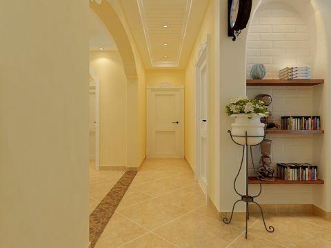玄关走廊欧式田园风格装潢设计图片