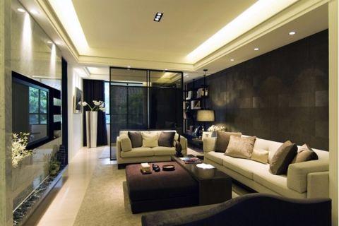 绿地卢浮宫116平米现代简约风格效果图