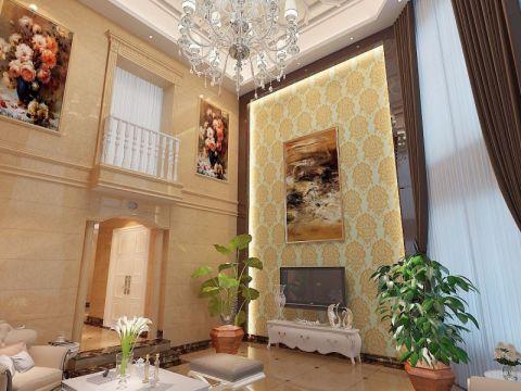 客厅照片墙简欧风格装潢图片