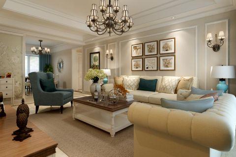 5.3万预算120平米三室两厅装修效果图