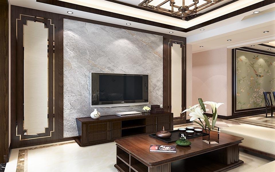 3室1卫2厅122平米新中式风格