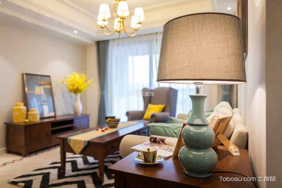 客厅绿色细节美式风格装潢图片