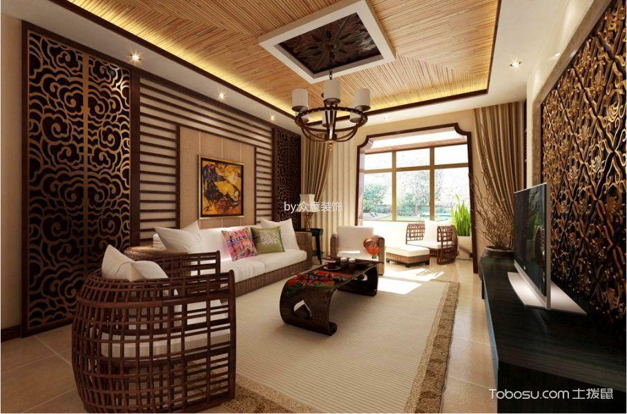 14万预算140平米三室两厅装修效果图