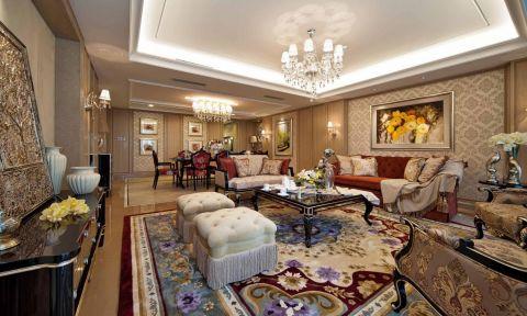 欧式风格163平米楼房新房装修效果图