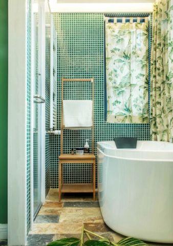 卫生间背景墙简约风格装饰图片