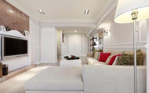 7.58万预算120平米三室两厅装修效果图
