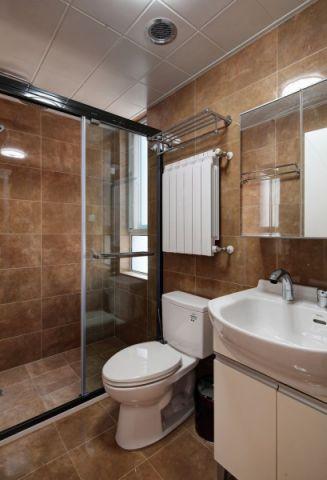 卫生间背景墙东南亚风格装潢设计图片