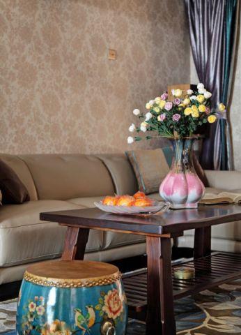 客厅窗帘东南亚风格效果图