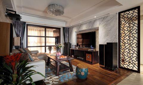 客厅隔断东南亚风格装修效果图