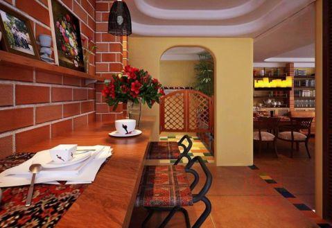 餐厅吧台混搭风格装修图片