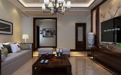 客厅茶几现代中式风格效果图