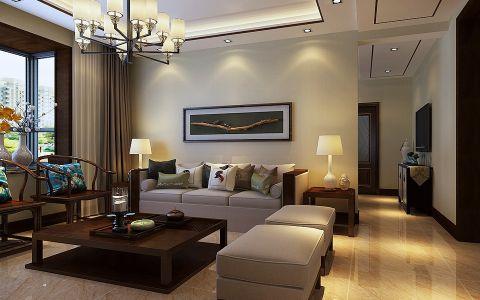 客厅吊顶现代中式风格装修效果图
