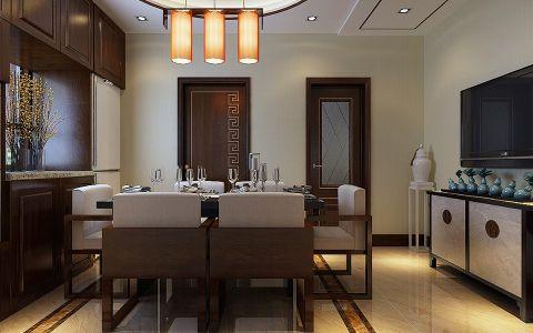 餐厅吊顶现代中式风格装饰效果图