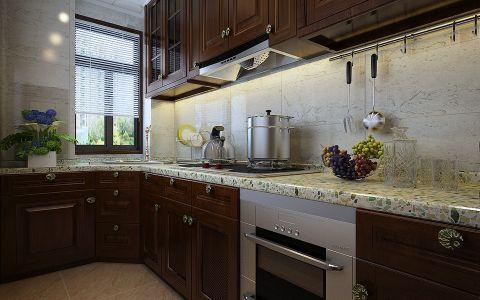 厨房窗帘现代中式风格装潢图片