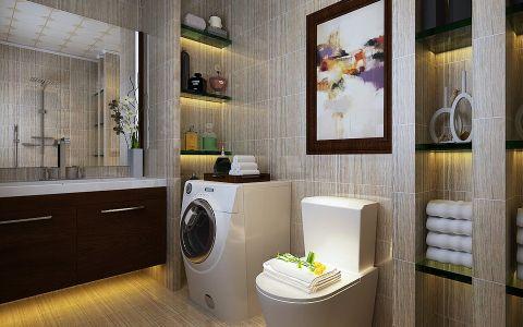 卫生间背景墙现代中式风格装修设计图片