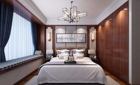 卧室窗帘新中式风格装修效果图