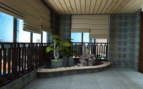 阳台窗帘新中式风格装饰图片