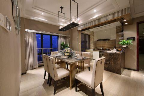 餐厅吊顶简欧风格装饰设计图片