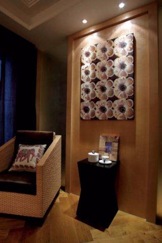 书房背景墙东南亚风格效果图