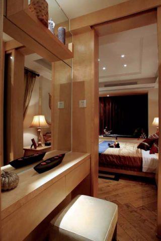 卧室梳妆台东南亚风格装潢效果图