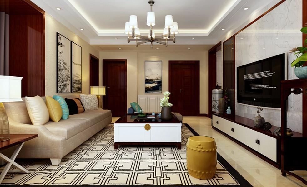 3室1卫1厅140平米新中式风格
