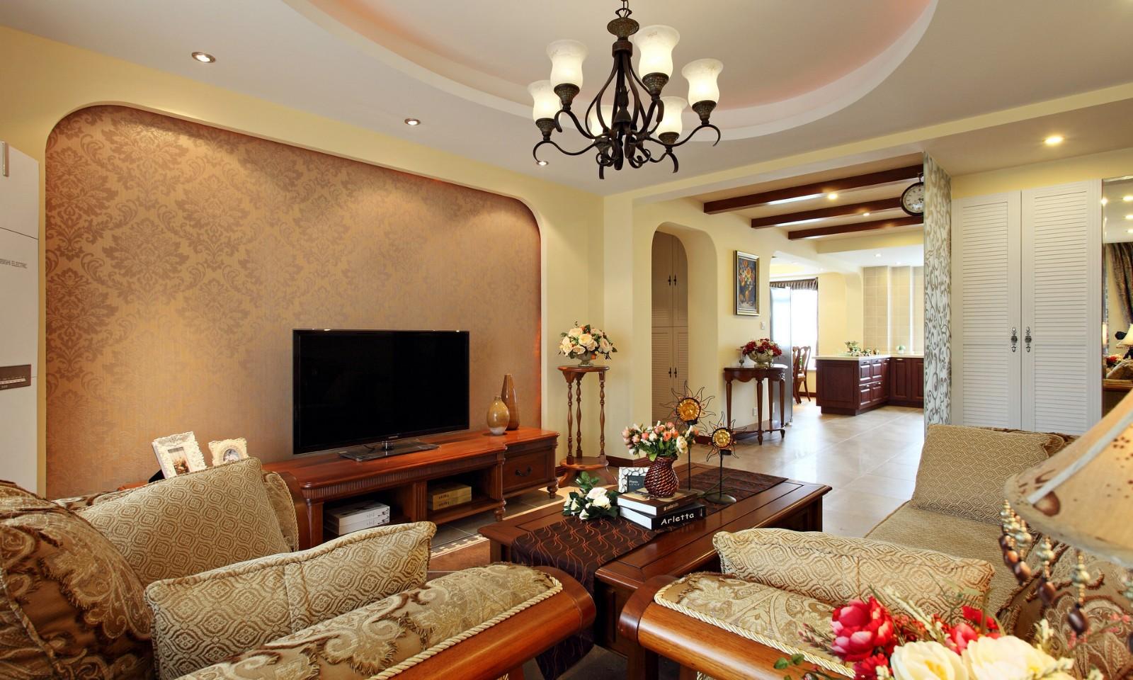 3室1卫2厅180平米美式风格