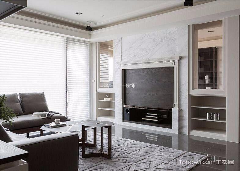 15万预算135平米三室两厅装修效果图