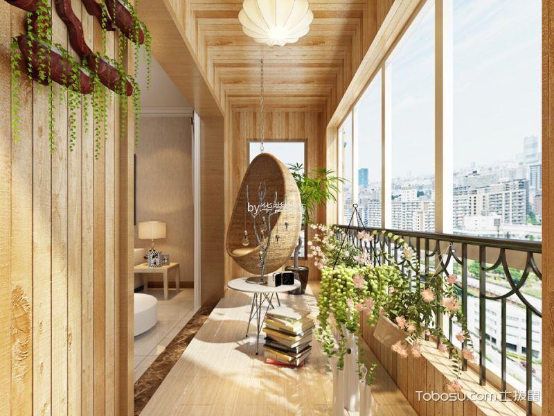 阳台黄色地砖现代风格装饰图片