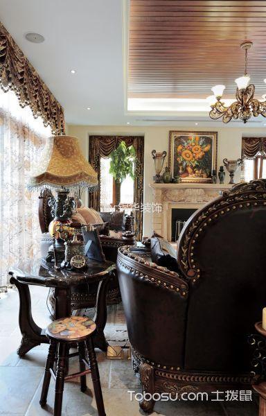 客厅咖啡色细节欧式风格装潢效果图
