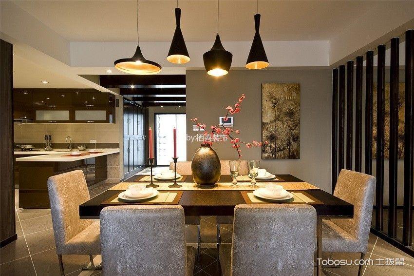 厨房灰色背景墙简欧风格效果图
